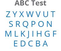 Reciting the alphabet backwards